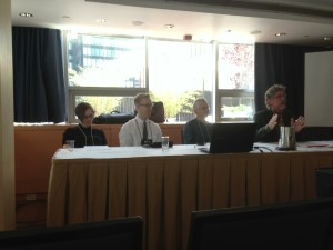 L-R) Courtney Ann Irby, Todd Fuist, Mary Jo Neitz, and Rhys Williams present at the ASR meeting 2013